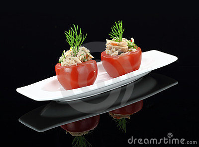 Tomatoes stuffed with tuna