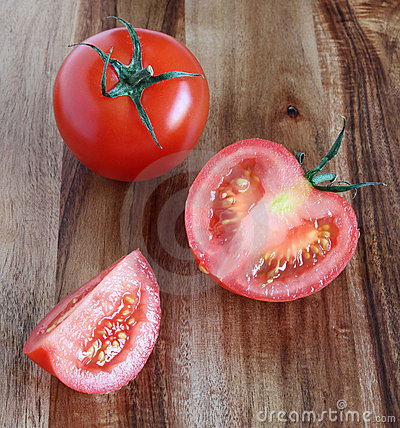 Tomatoes whole and cut