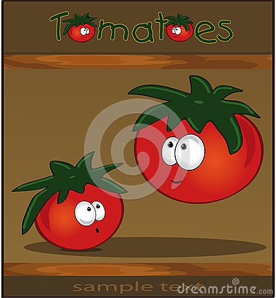 Tomatoes wood brown