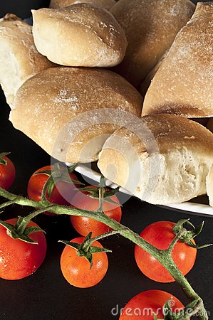 Tomatos and breads