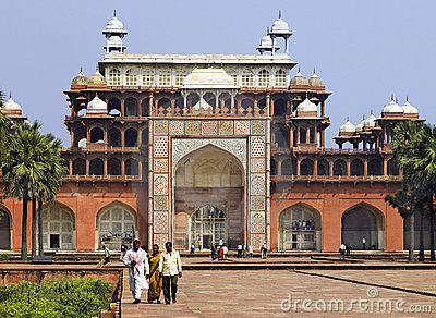Tomb of Akbar - Sikandra - Agra - India Editorial Image