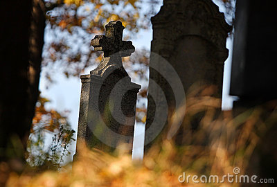 Tomb in autumn