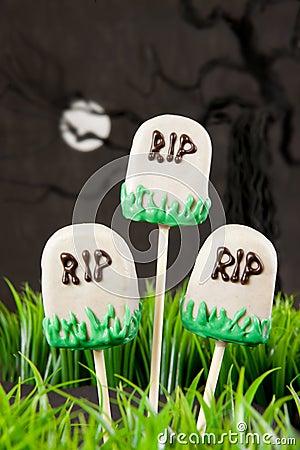 Tomb cake pops