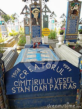 Free Tomb Creator `Merry Cemetery` In Sapanta, Maramures, Romania Royalty Free Stock Photography - 88967607