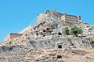 Tomb stone in Tlos, Turkey
