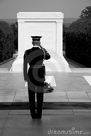 Tomb of the unknown soldier, Arlington Editorial Stock Image