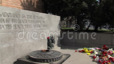 Tomb of the Unknown Soldier in Sofia, Bulgaria stock footage