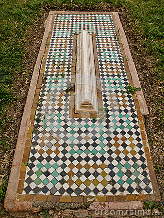 Tombes de mosaïque de Saadian à Marrakech.