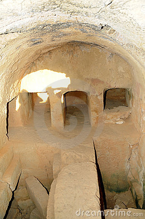 Tombs of the kings -Burial niches. Editorial Photography