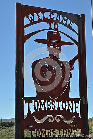 Free Tombstone Welcome Stock Image - 55794291