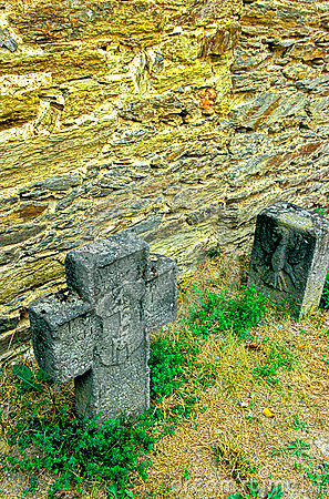 Tombstones in German castle