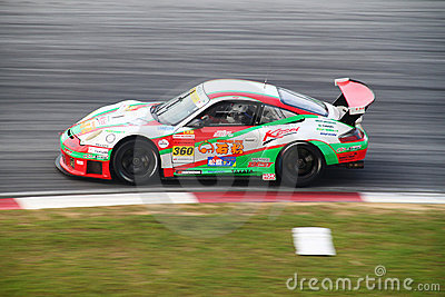 Tomei Porsche 360, SuperGT 2010 Editorial Stock Photo