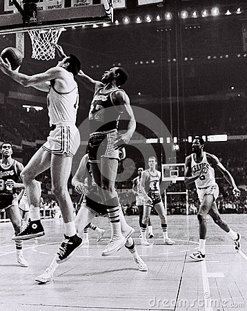 Tommy Heinsohn and Bill Russell Celtics Greats Editorial Photo