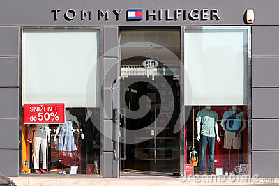 Tommy Hilfiger fashion store Editorial Photo