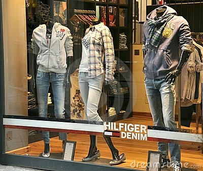 Tommy Hilfiger luxury fashion shop Editorial Stock Photo