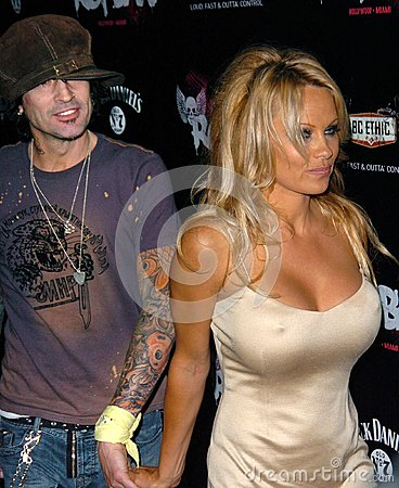 Tommy Lee,Pamela Anderson Editorial Photo