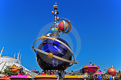 Tomorrowland fun ride at disneyland Editorial Stock Image