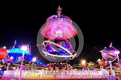 Tomorrowland fun ride at disneyland Editorial Photography