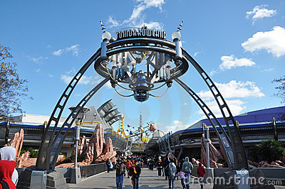 Tomorrowland in Magic Kingdom, Disney Orlando Editorial Photo