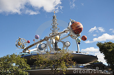 Tomorrowland in Magic Kingdom, Disney Orlando Editorial Image