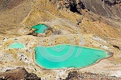 Tongariro Emerald lakes, New Zealand
