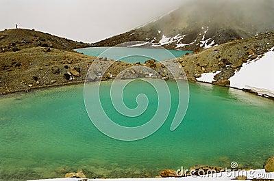 Tongariro lakes, New Zealand