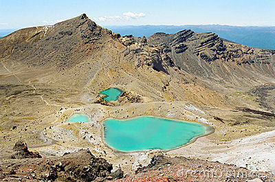 Tongariro lakes, New Zealand