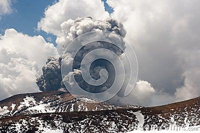 Tongariro Volcanic Eruption