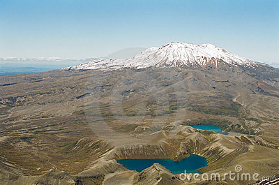 Tongariro Volcano and Lakes, New Zealand