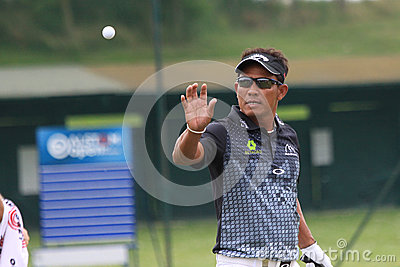 Tongchai Jaidee al golf francese apre 2013 Fotografia Editoriale