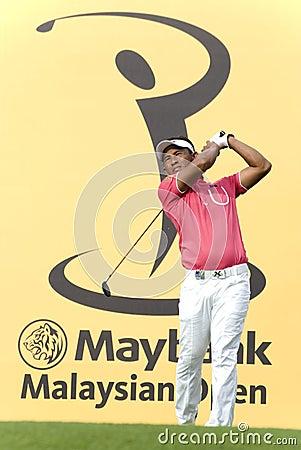 Tongchai Jaidee, Thailand professional golfer Editorial Image