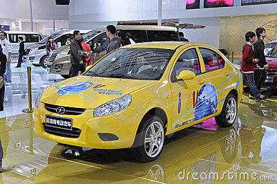 TONGYUE pure electric car Editorial Stock Photo