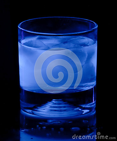 Tonic Water in Black Light