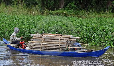 On the tonle sap in cambodia