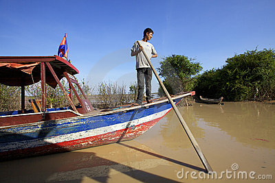 Tonle Sap Lake Cambodia Editorial Photography