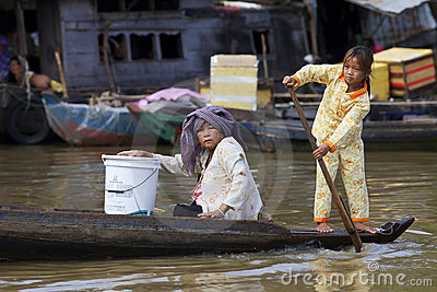 Tonle Sap Lake, Cambodia Editorial Image