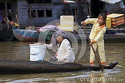 Tonle Sap Lake, Cambodia Editorial Image