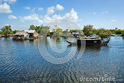 Tonle Sap lake, Cambodia.