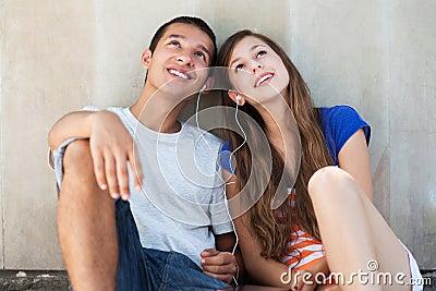 Tonårs- par