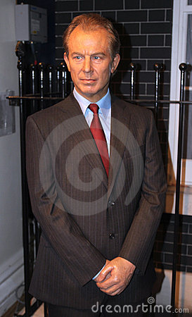 Tony Blair at Madame Tussaud s Editorial Stock Photo