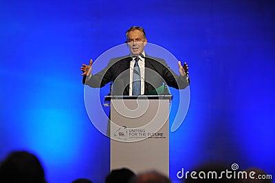Tony Blair Speaks at Thai Reconciliation Forum Editorial Stock Image