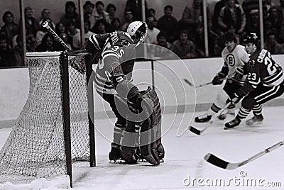 Tony Esposito Chicago Blackhawks goalie Editorial Photography