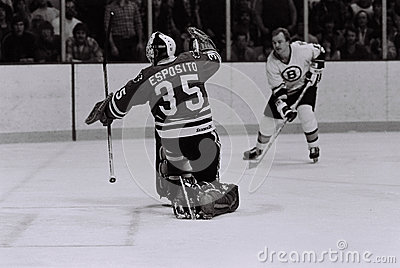 Tony Esposito Chicago Blackhawks goalie Editorial Stock Image