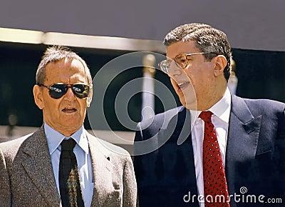 Tony Randall and Marvin Hamlisch Editorial Photo