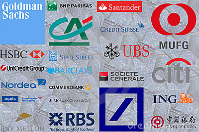 Too Big to Fail Banks Editorial Stock Photo