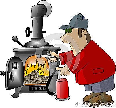 Too hot Cartoon Illustration