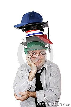 Free Too Many Hats Royalty Free Stock Photo - 3292365