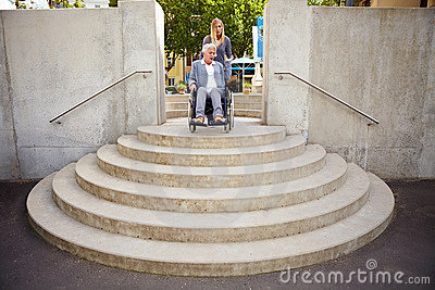 Too many steps for wheelchair user