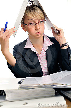 Free Too Much Work Stock Photography - 16371942