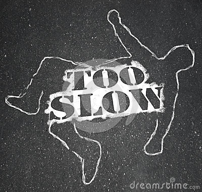 Too Slow Person Victim Chalk Outline Lazy Late